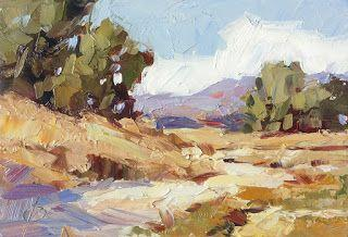 PLEIN AIR IMPRESSIONIST LANDSCAPE by TOM BROWN