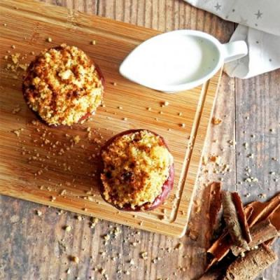 Apple Crumble in a Baked Apple