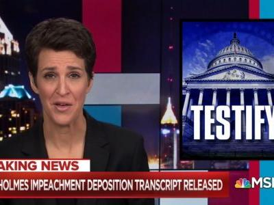 Rachel Maddow Storms to Monday Night Ratings Win Ahead of Impeachment Hearings