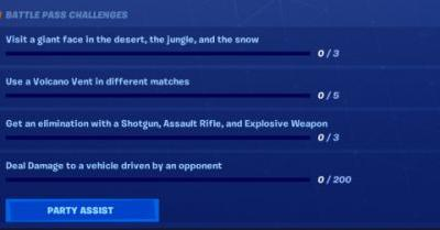Fortnite: how to complete challenges with Party Assist