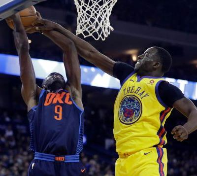 After 2 lopsided losses to OKC, Durant leads Warriors rout