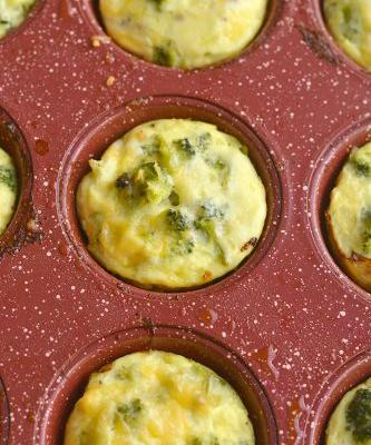 Meal Prep Cheesy Sausage Broccoli Egg Muffins {GF, Low Carb, Low Cal}