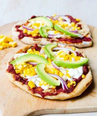 Grilled BBQ Chicken Pizza Recipe with Avocado