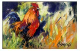 Maui Red..Pastel..Texas Artist..Rae Andrews