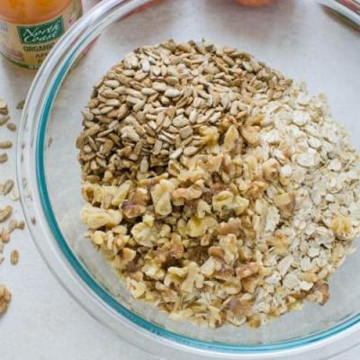 Naturally-Sweetened: Maple, Apple-Cinnamon Granola