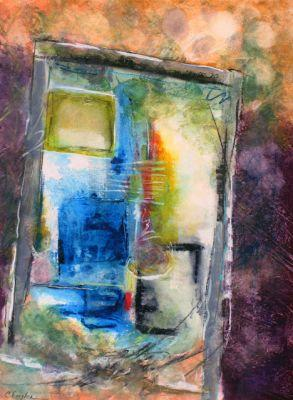 View Through A Window, Three, abstract painting by Carol Engles