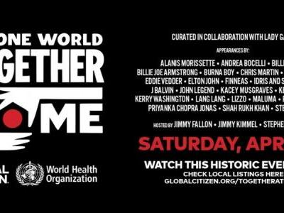 Apple will stream 'One World: Together At Home' virtual benefit event