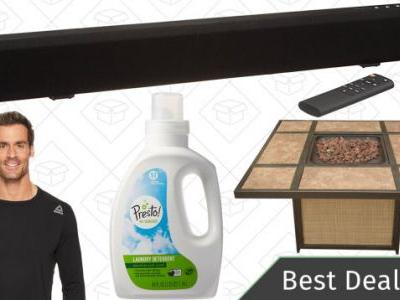 Saturday's Best Deals: Reebok Apparel, AmazonBasics Sound Bar, Patio Heaters, and More