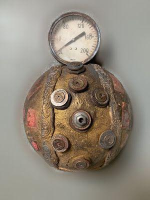 "Sculpture, Contemporary Art, Mixed Media ""HOW TO GAUGE A PIECE"" by Florida Contemporary Artist Mary Ann Ziegler"