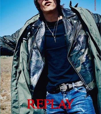 Leebo Freeman Embraces Rocker Style for Replay Fall '17 Campaign