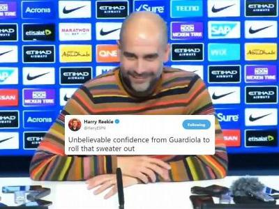 Man City boss Pep Guardiola's multi-coloured jumper is the talk of the town