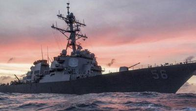 USS John McCain collides with merchant ship east of Singapore