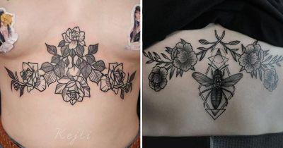 22 beautiful inkings that'll tempt you into wanting a sternum tattoo