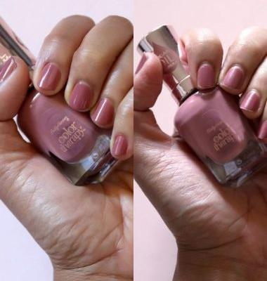 Desperately Seeking Persistent Polish: 7 Days With Sally Hansen Color Therapy Pink and Harmony