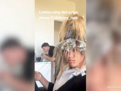 Sofia Richie Posts a Hilarious Video While Getting Her Hair Highlighted - Foil and All!