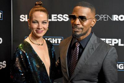 Jamie Foxx hits the red carpet for 'Sleepless' premiere