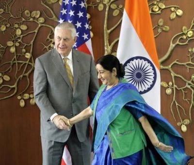 Tillerson in India to highlight U.S strategy in South Asia