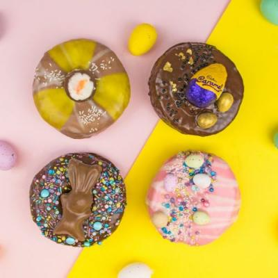 Doughnut Time's Easter doughnuts come topped with caramel and creme eggs