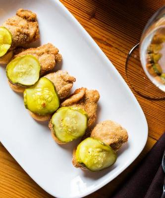 NYE Appetizer: Fried Oysters with Deviled Egg Sauce