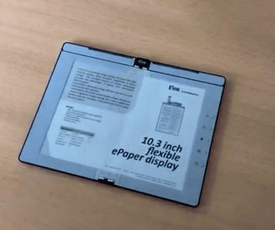 E Ink demos a foldable 'ebook' with built-in Wacom tech and even a light