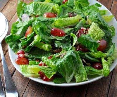 Romaine Salad With Grapes And Pomegranate