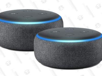 Double Up on Amazon Echo Dots with This $40 Prime 2-Pack