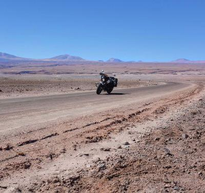 Indian Scout Sixty Touring In Chile-Atacama Desert Riding