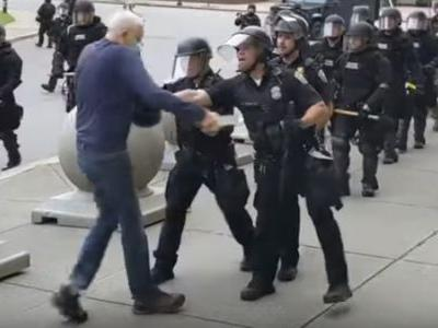 2 Buffalo Police Officers Charged After Shoving Protester To Ground