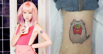These tattoos are the perfect inspiration for people who can't get enough of fast food