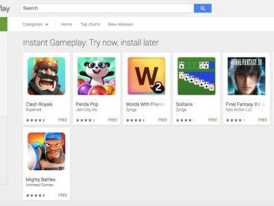 Google Play Instant games let you play first, download later