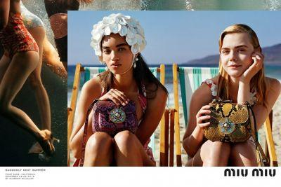 Elle Fanning stars in Miu Miu's beachside new campaign