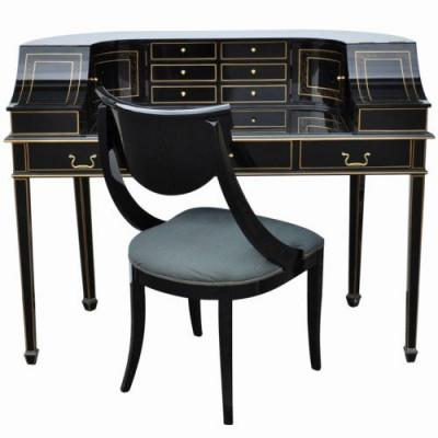 28 New Black and Gold Desk Images