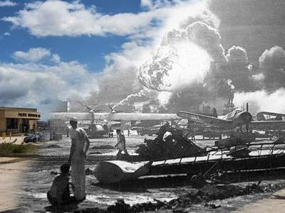 The Navy created incredible photos comparing Pearl Harbor today to the day of the Japanese attack