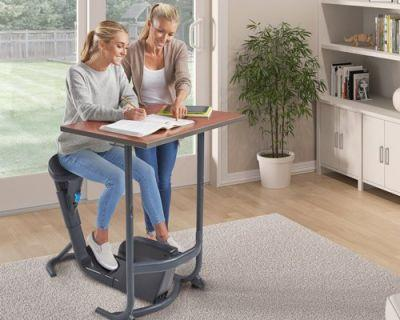 It's surprisingly easy to get work done and cycle at the same time with this hybrid bike desk