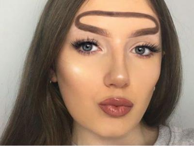 Halo Brows: The Latest Eyebrow Look To Leave Us Baffled