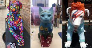 NJ Town Displays Dog & Cat Sculptures To Raise Money For Pets In Need