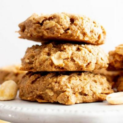 Oil-Free PB Oat Breakfast Cookies