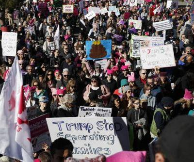 The Latest: Nevada marchers say they're part of history