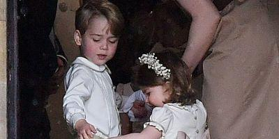 Prince George and Princess Charlotte Are at Peak Adorableness at Pippa's Wedding