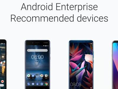 Google's Android Enterprise Recommended certifies devices for work, security needs