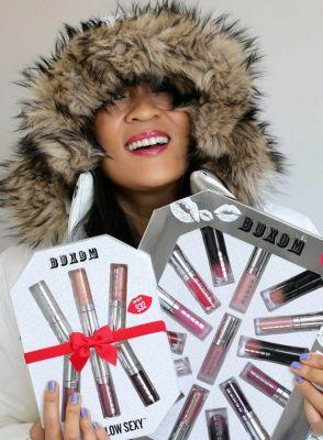 The Buxom Freezes Over 15-Piece Mini Lip Collection and 6 Degrees Below Sexy Plumping 6-Piece Mini Full-On Lip Polish Collection Sets