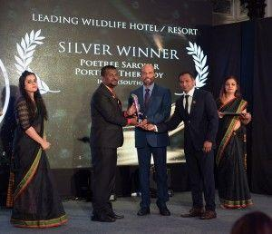 Poetree Sarovar Portico won Leading Wildlife Resort in South Asian Travel Awards