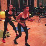 The Victoria's Secret Models Are in Shanghai and They're Hitting the Gym HARD