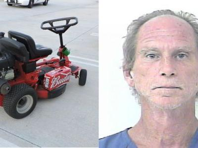 Man accused of driving lawn mower on highway while drunk
