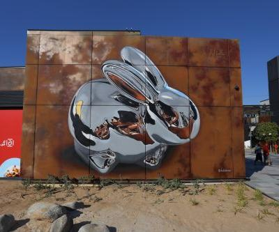 """Chrome Rabbit"" by Bikismo in Dubai, UAE"