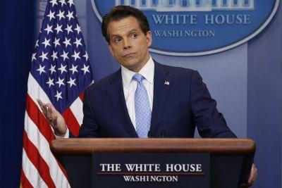 Scaramucci quotes anonymous source on Russian hacking, then admits Trump was the source