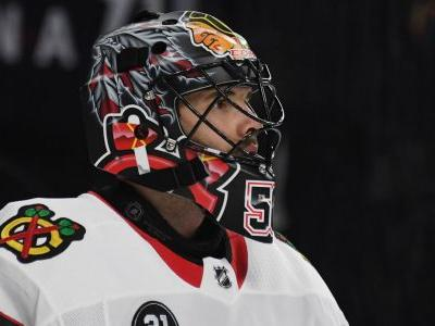 Blackhawks goalie Corey Crawford suffers concussion