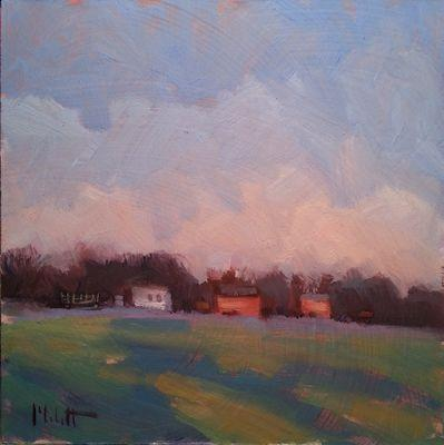 Warm Biscuits and Coffee Red Barn Rural Landscape