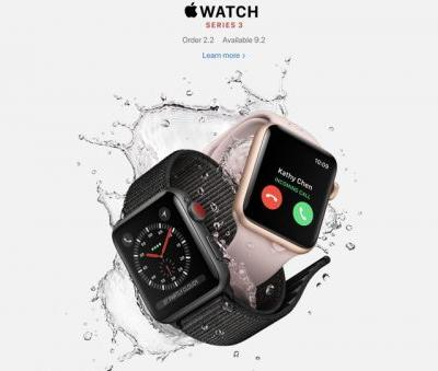 Cellular Apple Watch Series 3 Launching in Singapore and Hong Kong in February