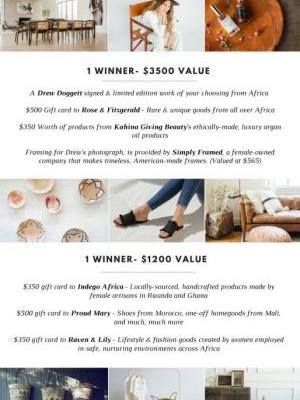 We're celebrating Africa with a $5,000 giveaway!